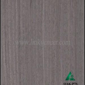 OAK-P7S, Engineered straight grain black oak wood veneer