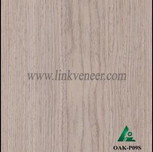 OAK-P09S, Engineered rotary cut oak wood veneer