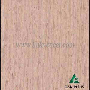 OAK-P12-1S, Engineered straight grain oak wood veneer