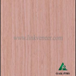 OAK-P58S, Engineered rotary cut red oak wood veneer