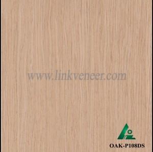 OAK-P108DS, Engineered straight grain oak wood veneer