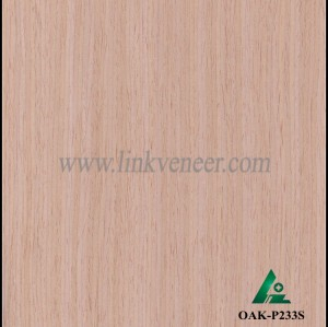 OAK-P233S, Engineered straight grain oak wood veneer