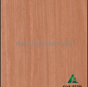 OAK-P325S, Engineered straight grain oak wood veneer