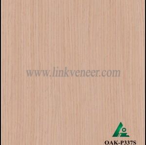 OAK-P337S, Engineered straight grain oak wood veneer