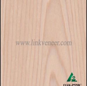 OAK-P558C, supply engineered wood veneer sliced cut recon veneer 0.3mm recomposed veneer for plywood face