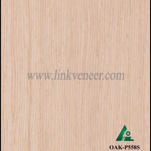 OAK-P558S, Engineered straight grain white oak wood veneer