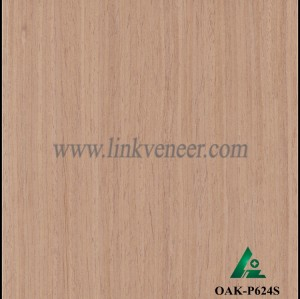 OAK-P624S, Engineered straight grain oak wood veneer