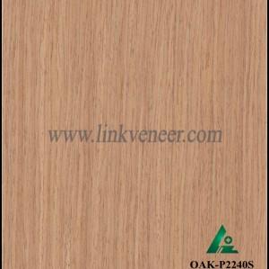 OAK-P2240S, Engineered straight grain oak wood veneer