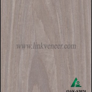 OAK-S302#, wash oak engineered veneer reconstituted veneer recon veneer supplier