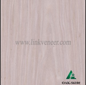 OAK-S610#, Engineered Wood Veneer of ash oak (quarter cut)