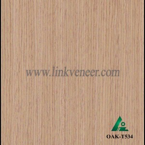 OAK-T534, Engineered straight grain oak wood veneer