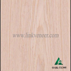 OAK-T1395, Engineered rotary cut white oak wood veneer