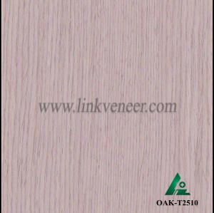 OAK-T2510, Engineered straight grain silver oak wood veneer