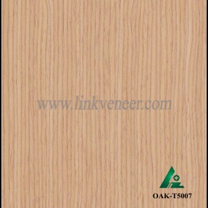 OAK-T5007, Engineered straight grain yellow oak wood veneer