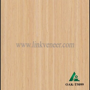 OAK-T5099, Engineered straight grain oak wood veneer
