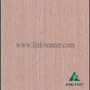 OAK-T5117, Engineered straight grain oak wood veneer
