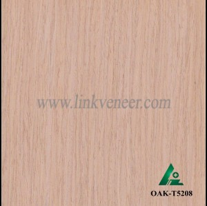 OAK-T5208, Engineered straight grain oak wood veneer
