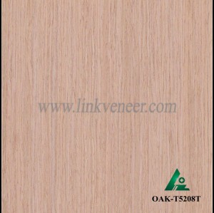 OAK-T5208T, Engineered straight grain oak wood veneer