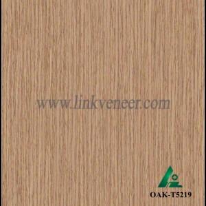 OAK-T5219, Engineered straight grain oak wood veneer