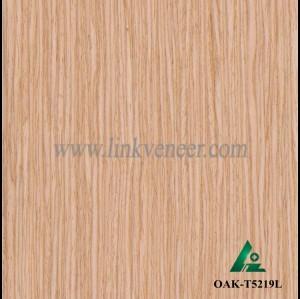 OAK-T5219L, Engineered straight grain oak wood veneer