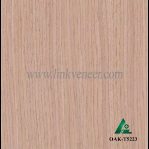 OAK-T5223, Engineered straight grain oak wood veneer