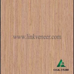 OAK-T5280, Engineered straight grain oak wood veneer