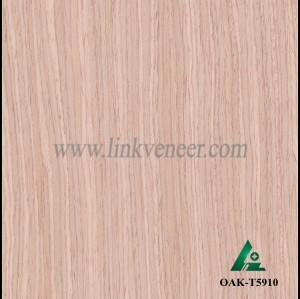 OAK-T5910, Engineered straight grain oak wood veneer