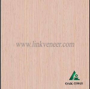 OAK-T5915, Engineered straight grain white oak wood veneer