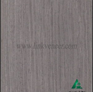 OAK-Y7S, Engineered straight grain gray oak wood veneer