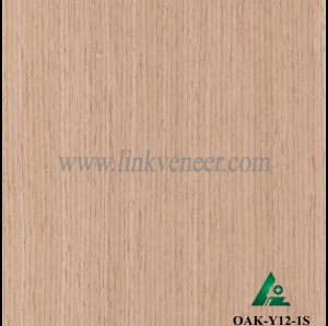 OAK-Y12-1S, Engineered straight grain oak wood veneer