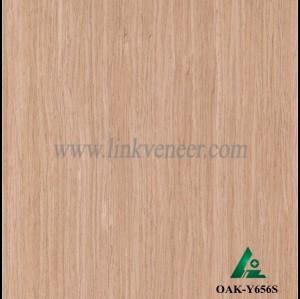 OAK-Y656S, Engineered straight grain oak wood veneer