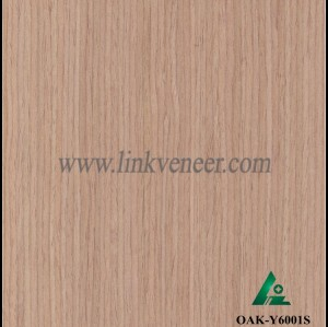 OAK-Y6001S, Reconstituted straight grain oak wood veneer