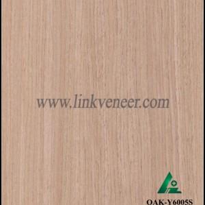 OAK-Y6005S, Reconstituted straight grain oak wood veneer