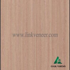 OAK-Y6024S, Reconstituted straight grain oak wood veneer