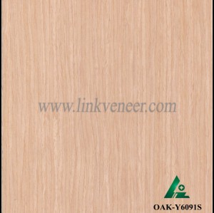 OAK-Y6091S, Reconstituted straight grain oak wood veneer