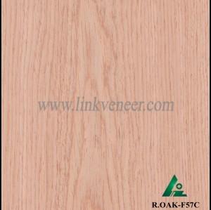 R.OAK-F57C, red oak engineered veneer reconstituted veneer recon veneer supplier
