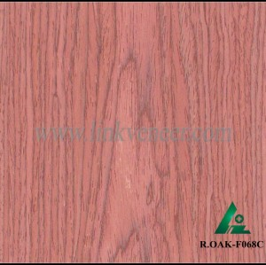 R.OAK-F068C, 0.8mm engineered red oak wood veneer for furniture