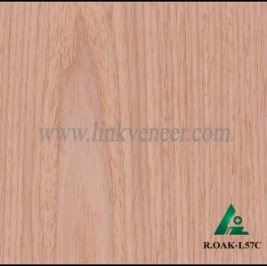 R.OAK-L57C, red oak engineered veneer reconstituted veneer recon veneer supplier
