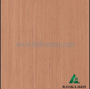 R.OAK-L2642S, red oak engineered veneer reconstituted veneer recon veneer supplier