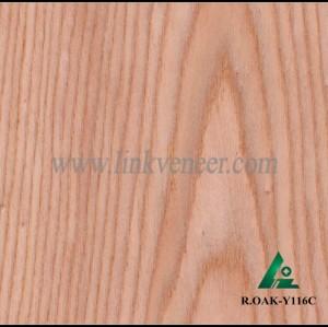 R.OAK-Y116C, red oak wood engineered veneer for plywood