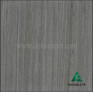S.OAK-L7S, ENGENEERER WOOD VENEER GRAY WOOD FACE VENEER
