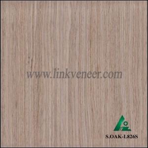 S.OAK-L826S, Hot sale oak face veneer 0.30mm recon oak veneer
