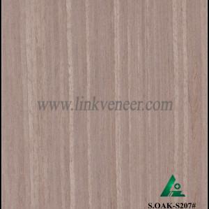 S.OAK-S207#,  recon wood veneer gray oak engineered wood veneer size 2500*640mm,