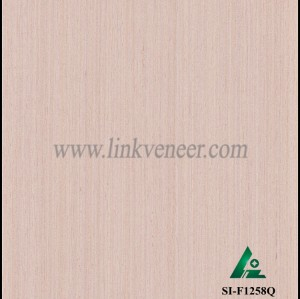 SI-F1258Q, Reconstituted straight grain pink oak wood veneer