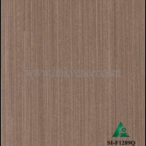 SI-F1289Q, Reconstituted straight grain dark oak wood veneer
