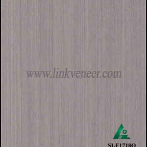 SI-F1718Q, Reconstituted straight grain gray oak wood veneer