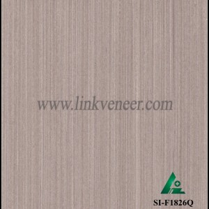 SI-F1826Q, Reconstituted straight grain oak wood veneer