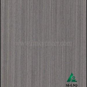 SI-L5Q. Reconstituted straight grain gray oak wood veneer