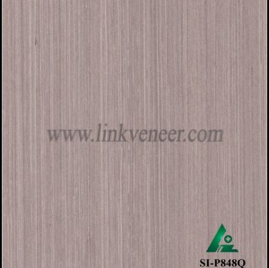 SI-P848Q, Engineered straight grain oak wood veneer