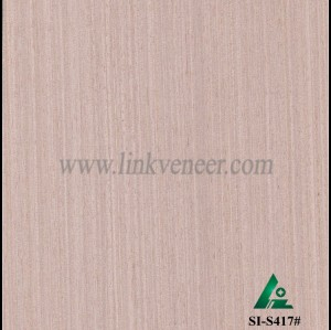 SI-S417#, Engineered straight grain oak wood veneer